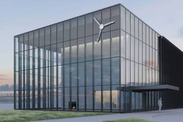 Artist rendering of new FBO at Paine Field
